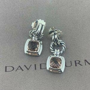 David Yurman SS 925 Renaissance Morganite Earrings